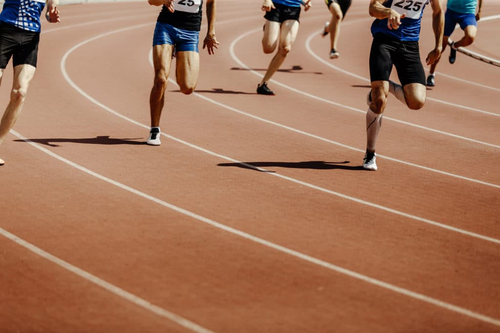 power athlete male sprinters